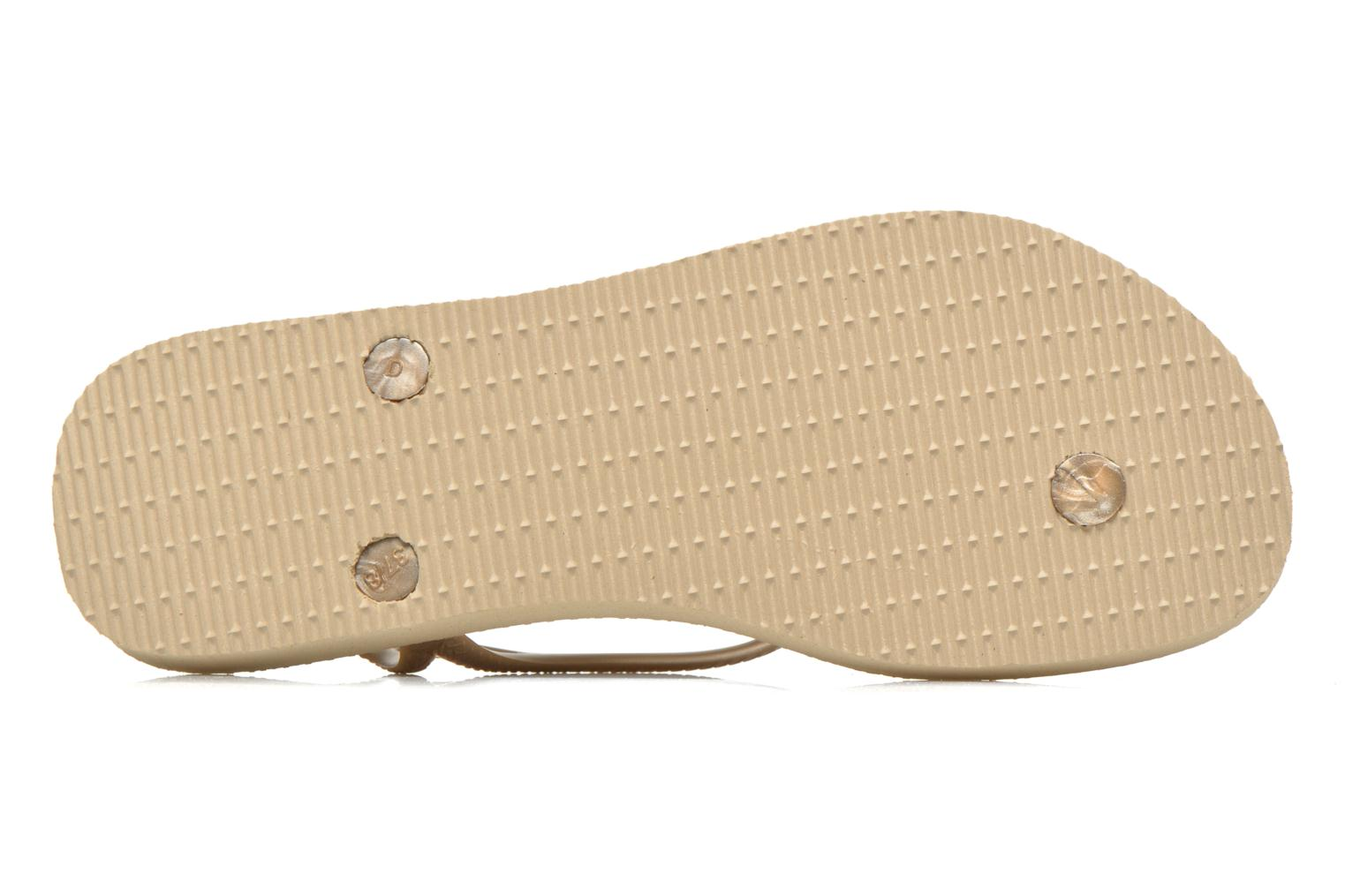 Flip flops Havaianas Luna Especial Bronze and Gold view from above