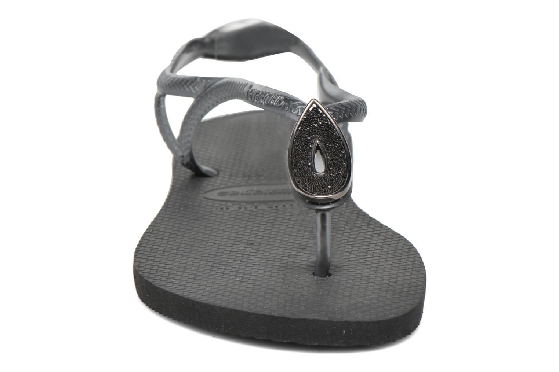 Tongs Havaianas Luna Especial Noir vue portées chaussures