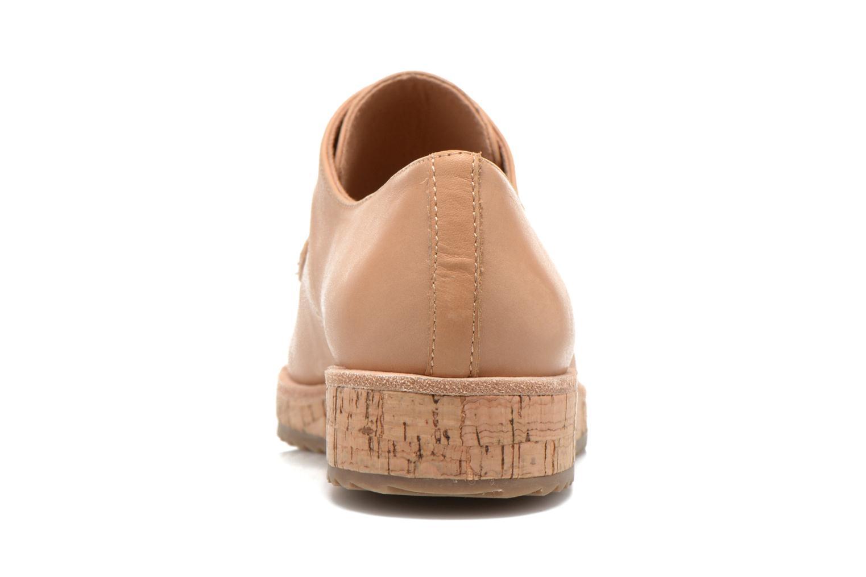 Chaussures à lacets Aldo GATER Beige vue droite