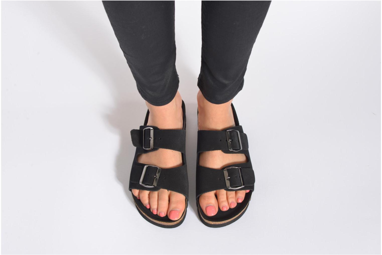 Wedges Vero Moda Julia Leather Sandal Bruin onder