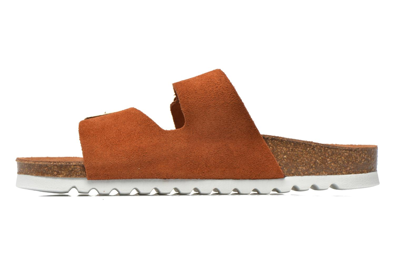 Wedges Vero Moda Julia Leather Sandal Bruin voorkant