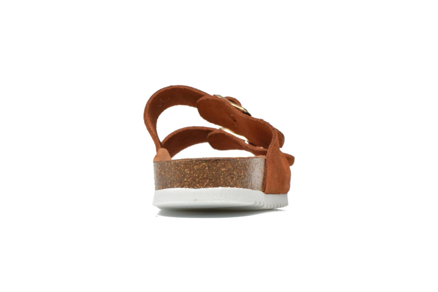 Zuecos Vero Moda Julia Leather Sandal Marrón vista lateral derecha