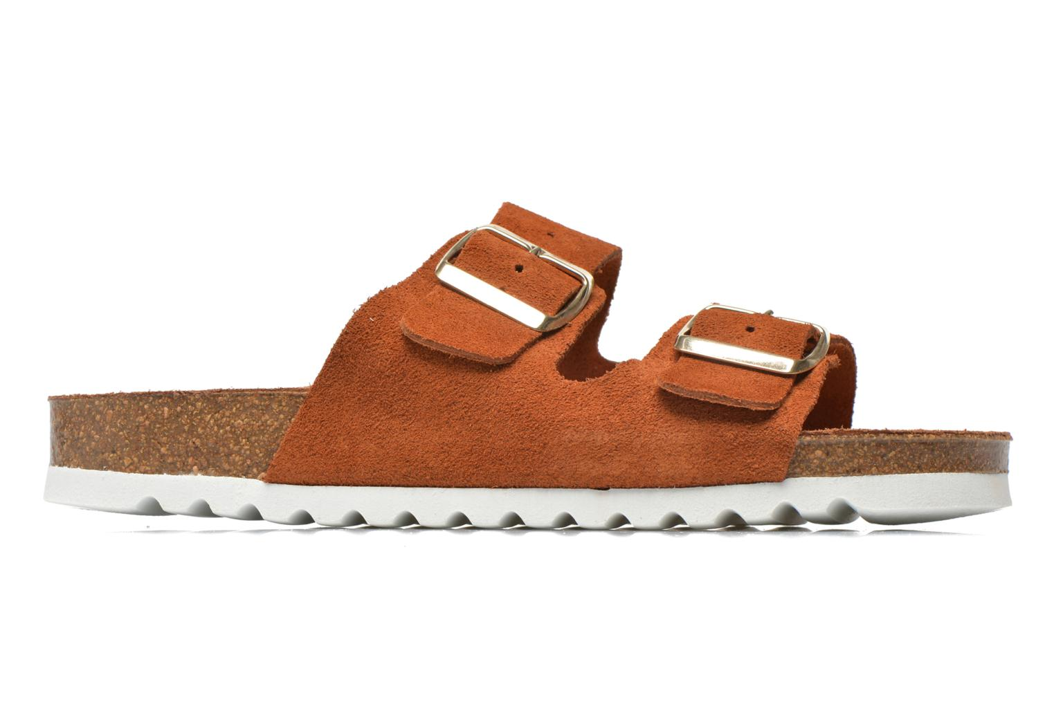 Zuecos Vero Moda Julia Leather Sandal Marrón vistra trasera