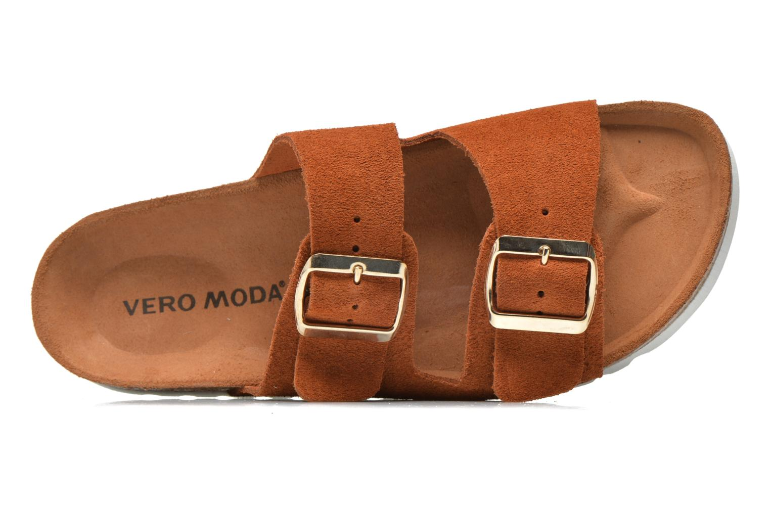 Mules et sabots Vero Moda Julia Leather Sandal Marron vue gauche