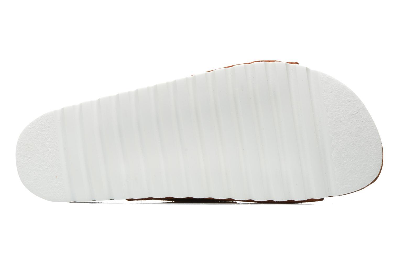 Wedges Vero Moda Julia Leather Sandal Bruin boven