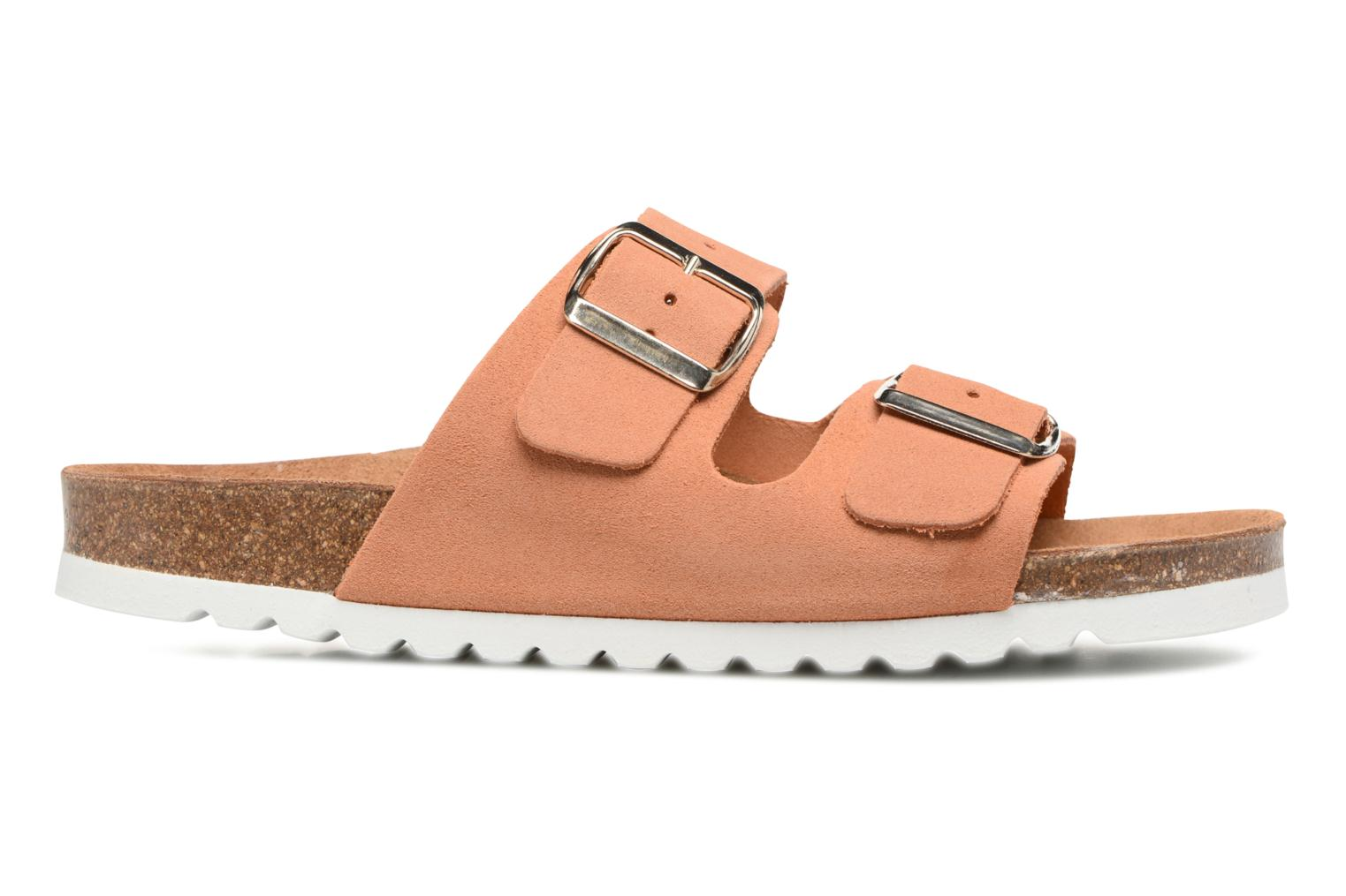 Mules et sabots Vero Moda Julia Leather Sandal Orange vue derrière