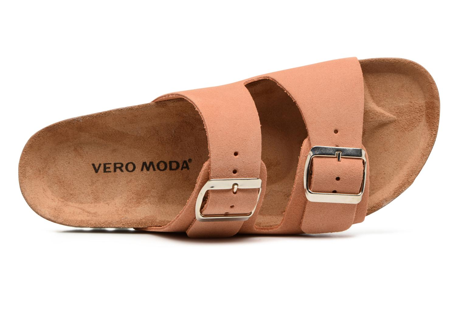 Mules et sabots Vero Moda Julia Leather Sandal Orange vue gauche