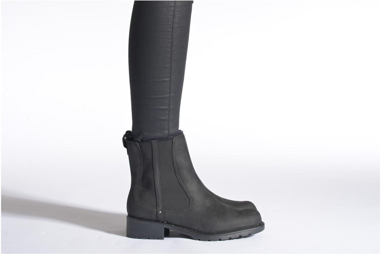 Bottines et boots Clarks Orinoco Hot Noir vue bas / vue portée sac