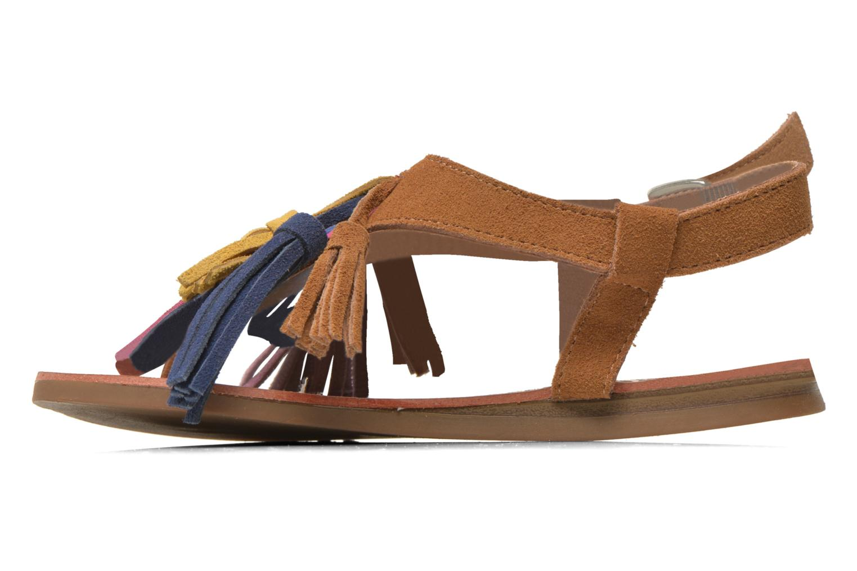 Sandales et nu-pieds Les Tropéziennes par M Belarbi Gorby E Marron vue face