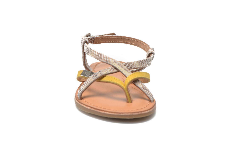 Sandales et nu-pieds Les Tropéziennes par M Belarbi Bonbon Jaune vue portées chaussures