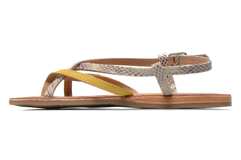 Sandales et nu-pieds Les Tropéziennes par M Belarbi Bonbon Jaune vue face