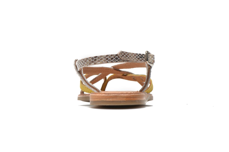 Sandales et nu-pieds Les Tropéziennes par M Belarbi Bonbon Jaune vue droite