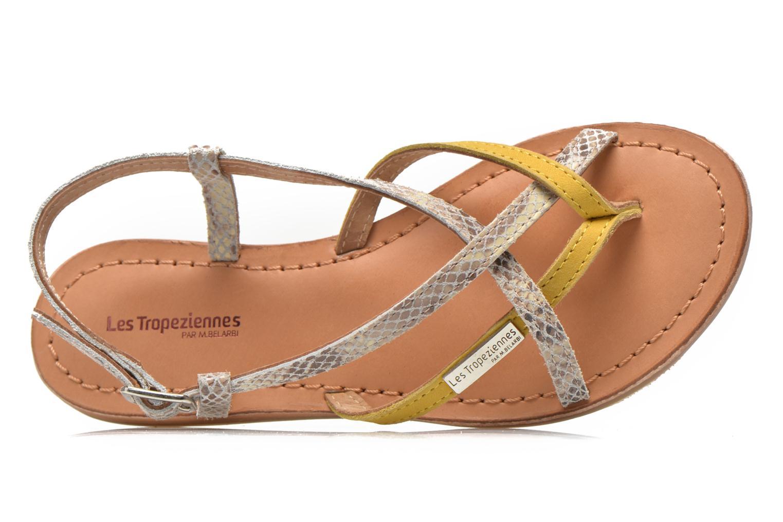 Sandales et nu-pieds Les Tropéziennes par M Belarbi Bonbon Jaune vue gauche