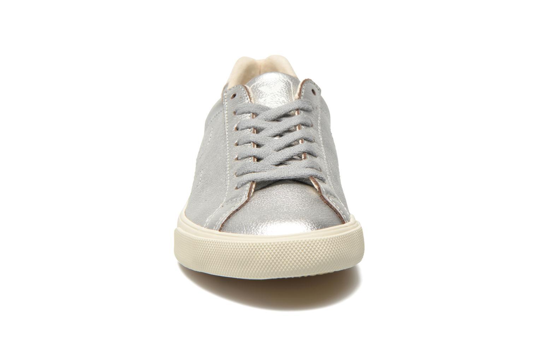 Baskets Veja Esplar Leather Argent vue portées chaussures