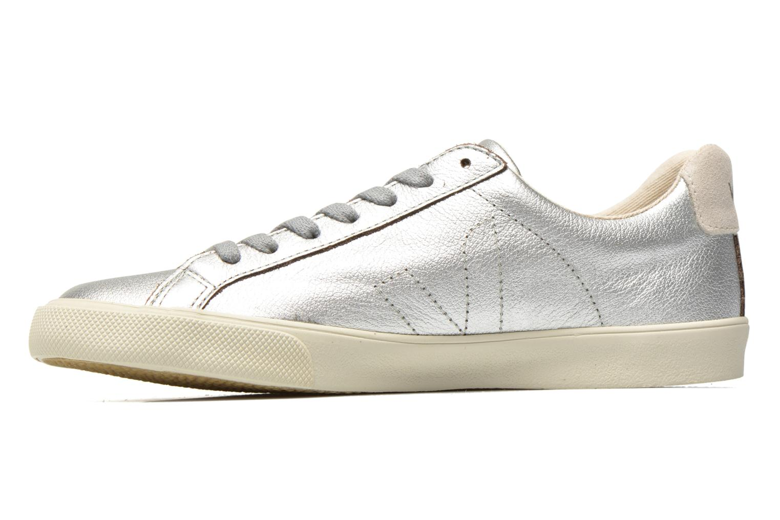 Trainers Veja Esplar Leather Silver front view