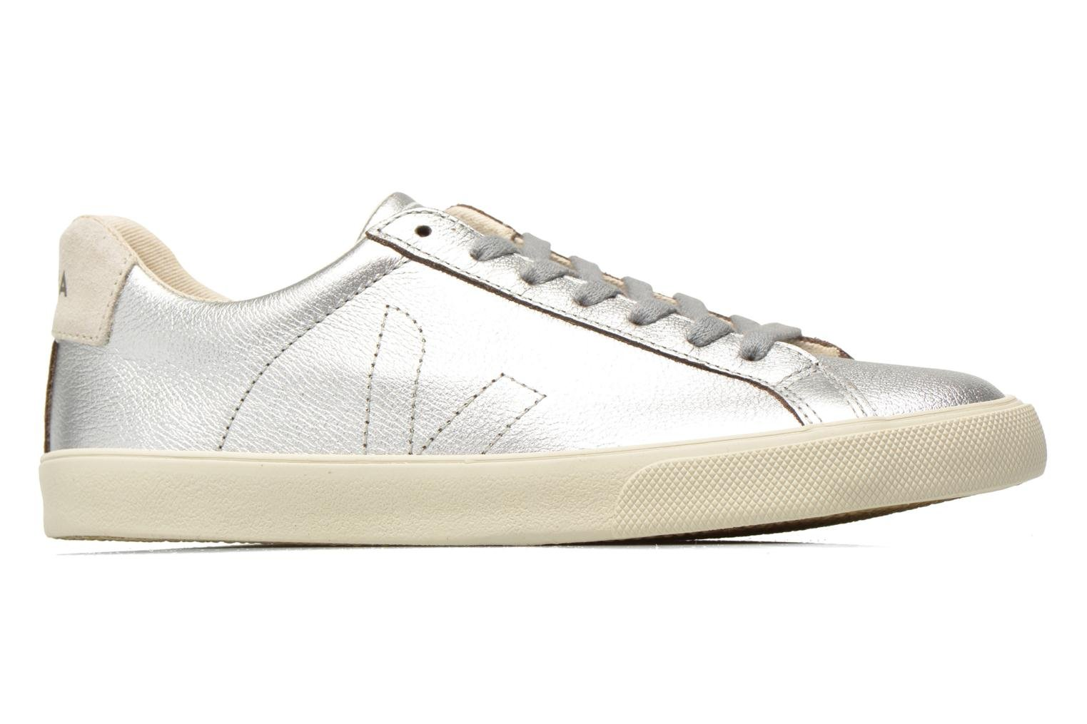 Trainers Veja Esplar Leather Silver back view