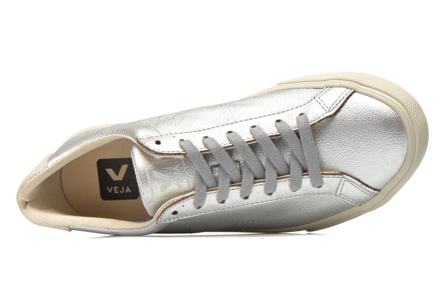 Trainers Veja Esplar Leather Silver view from the left