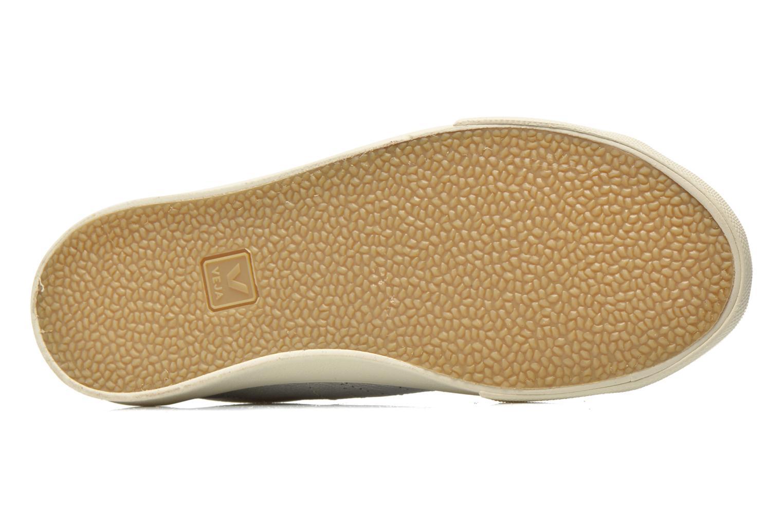 Baskets Veja Esplar Leather Argent vue haut