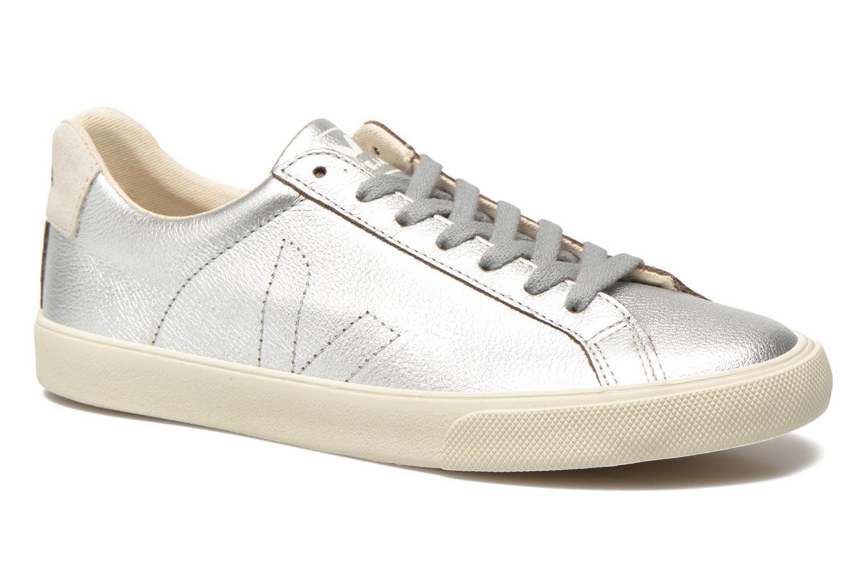 Baskets Veja Esplar Leather Argent vue détail/paire