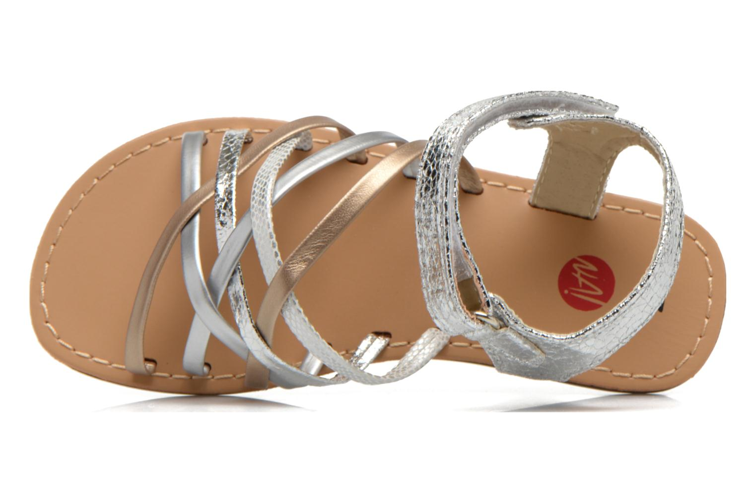 Sandals NA! Farandol Silver view from the left
