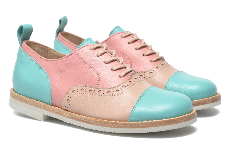Zapatos con cordones PèPè Alexandra Verde vista 3/4