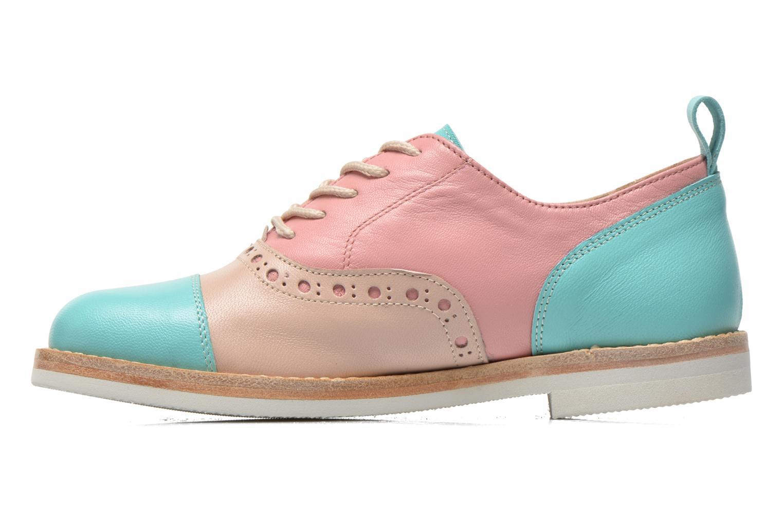 Zapatos con cordones PèPè Alexandra Verde vista de frente