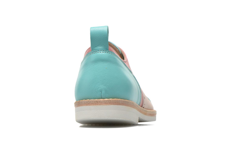 Zapatos con cordones PèPè Alexandra Verde vista lateral derecha