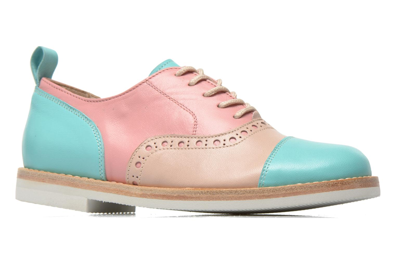 Zapatos con cordones PèPè Alexandra Verde vistra trasera