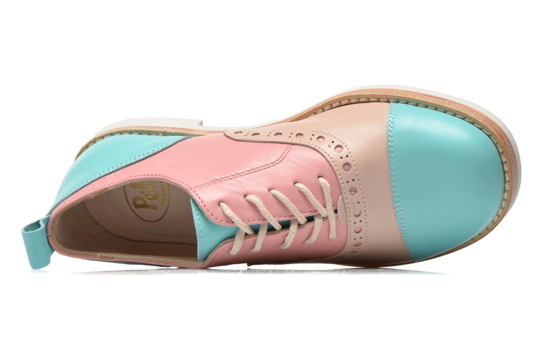 Chaussures à lacets PèPè Alexandra Vert vue gauche