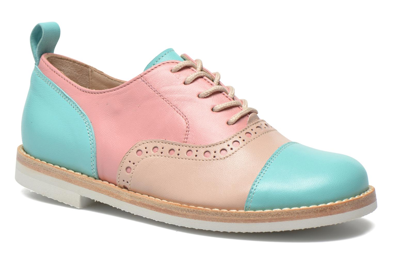 Zapatos con cordones PèPè Alexandra Verde vista de detalle / par
