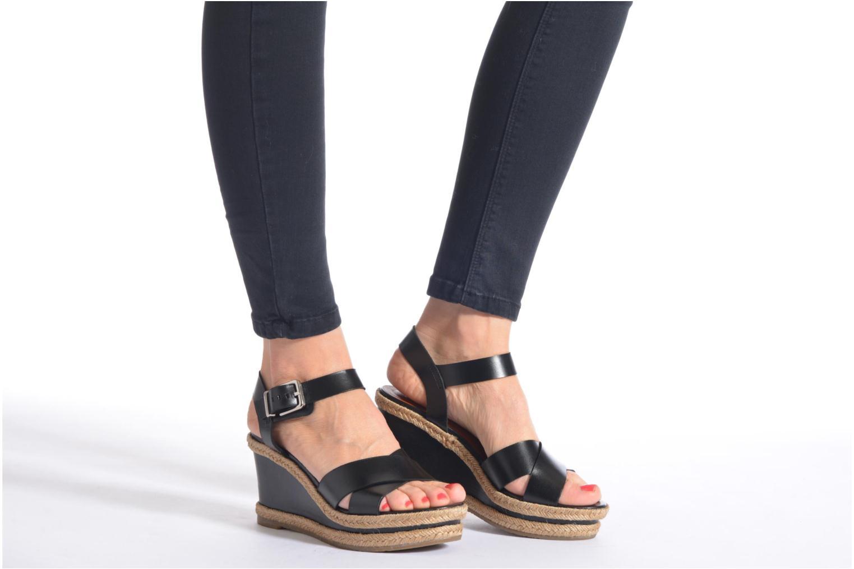 Sandales et nu-pieds Made by SARENZA Menthe Hello #20 Noir vue bas / vue portée sac
