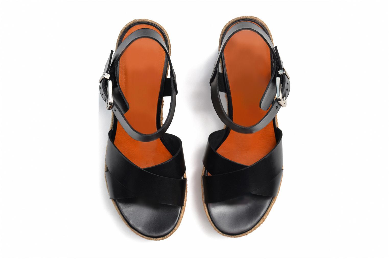 Sandales et nu-pieds Made by SARENZA Menthe Hello #20 Noir vue haut