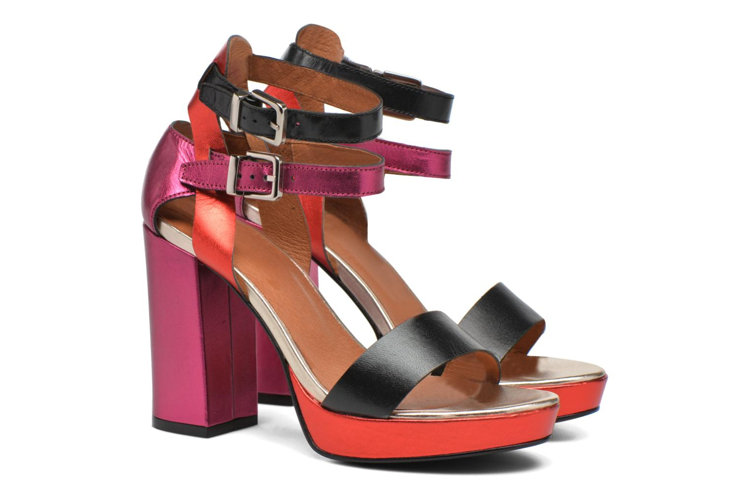 Sandals Made by SARENZA Glossy Cindy #12 Multicolor back view
