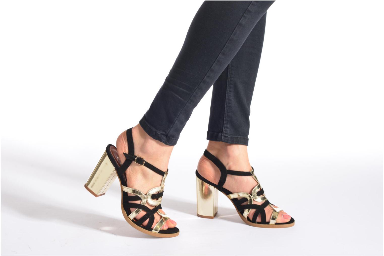Sandales et nu-pieds Made by SARENZA Square Simone#1 Noir vue bas / vue portée sac