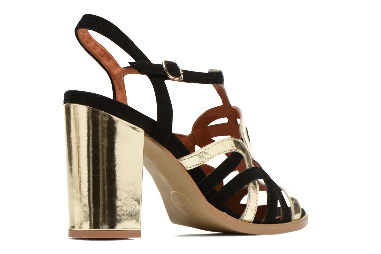 Sandales et nu-pieds Made by SARENZA Square Simone#1 Noir vue portées chaussures