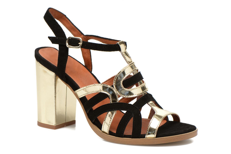 Sandales et nu-pieds Made by SARENZA Square Simone#1 Noir vue face