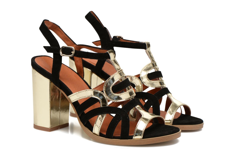 Sandales et nu-pieds Made by SARENZA Square Simone#1 Noir vue droite