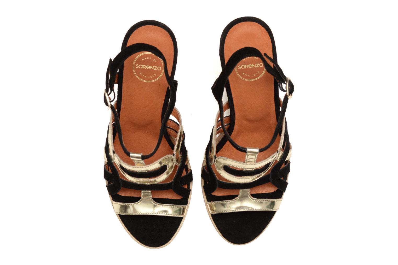 Sandales et nu-pieds Made by SARENZA Square Simone#1 Noir vue haut