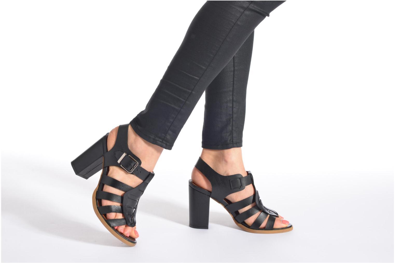 Sandales et nu-pieds Made by SARENZA Menthe Hello #16 Noir vue bas / vue portée sac