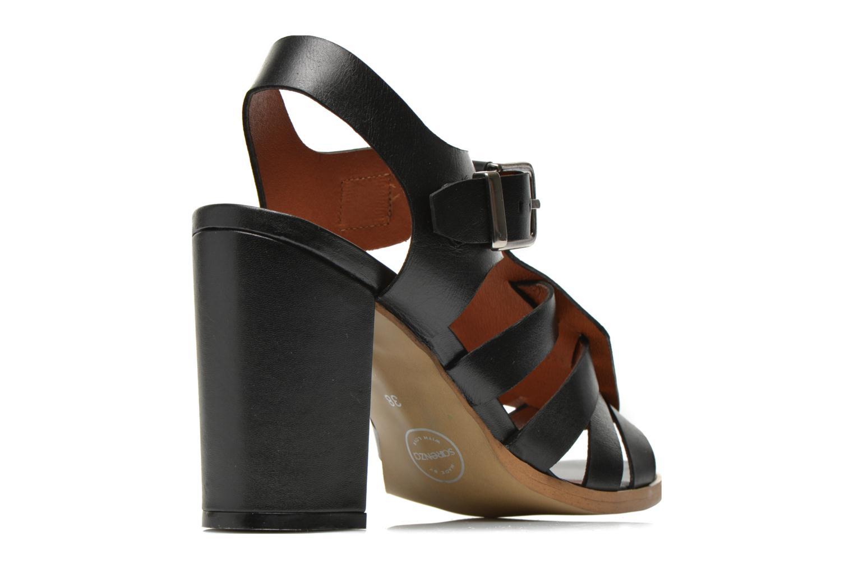 Sandales et nu-pieds Made by SARENZA Menthe Hello #16 Noir vue portées chaussures