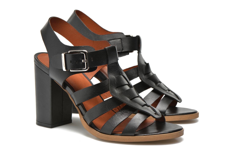 Sandalias Made by SARENZA Menthe Hello #16 Negro vista lateral derecha