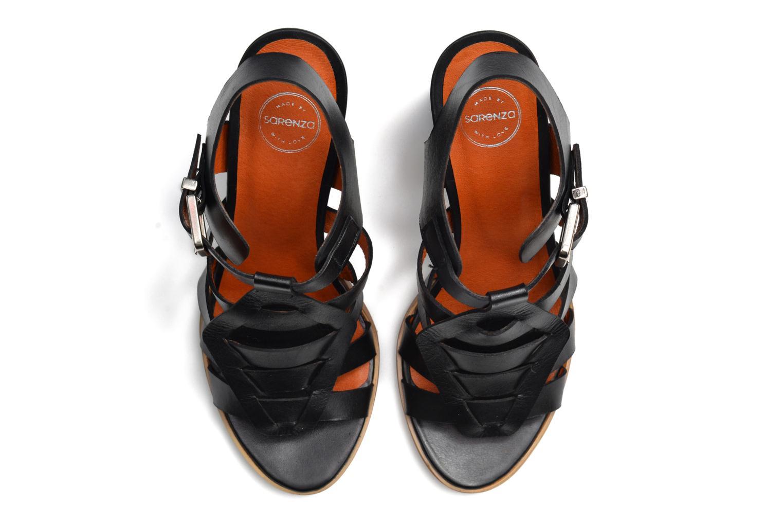Sandales et nu-pieds Made by SARENZA Menthe Hello #16 Noir vue haut