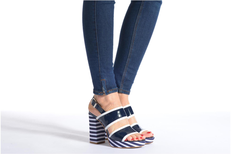 Sandales et nu-pieds Made by SARENZA Menthe Hello #17 Bleu vue bas / vue portée sac