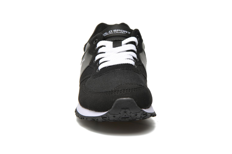 Sneaker Polo Ralph Lauren Slaton Pony schwarz schuhe getragen