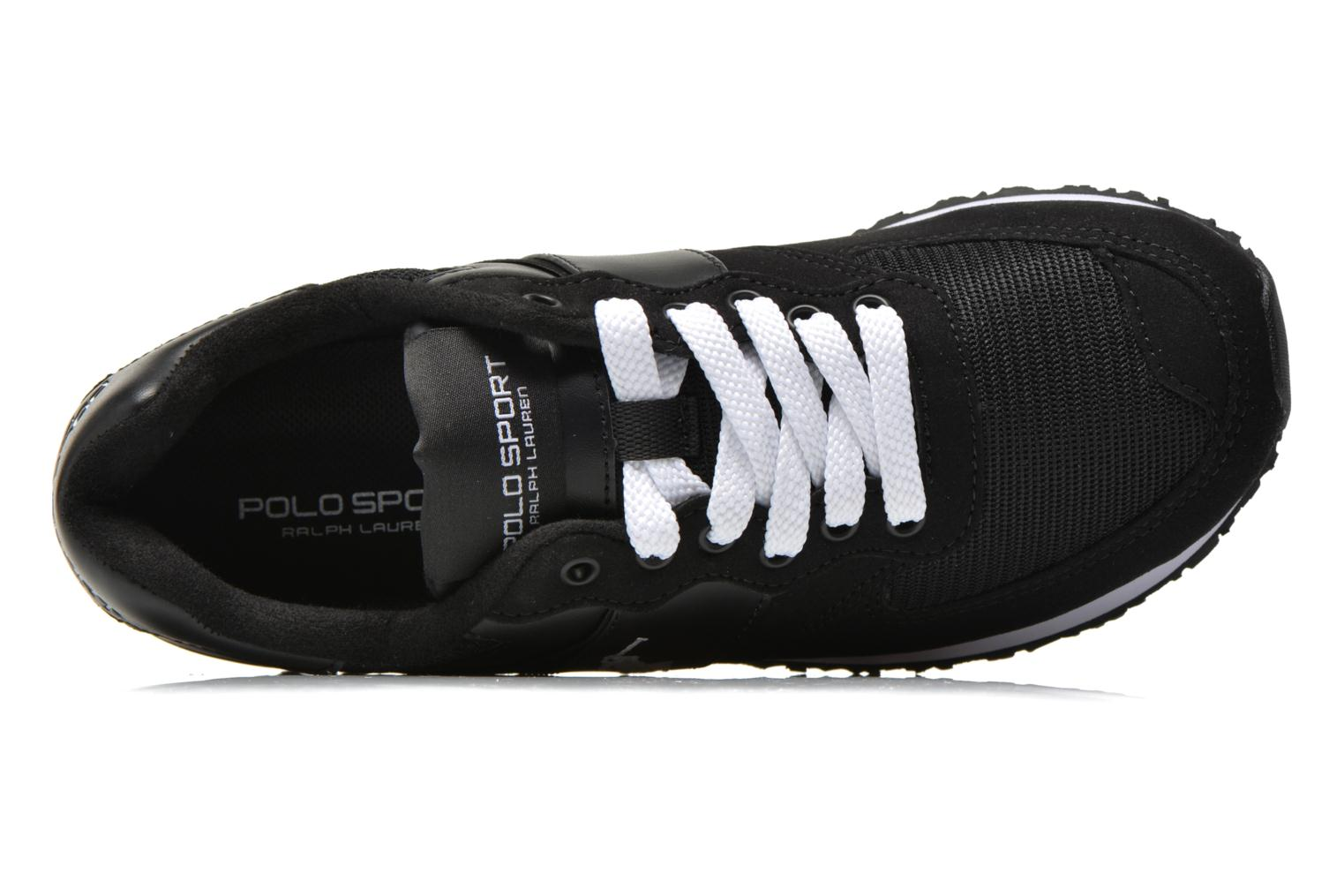 Sneakers Polo Ralph Lauren Slaton Pony Zwart links