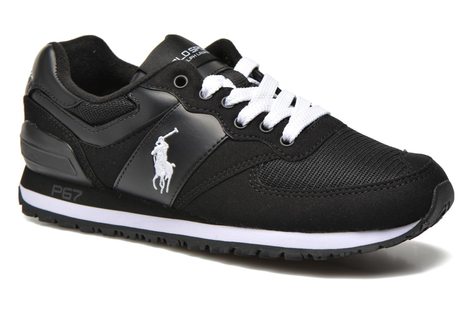 Sneakers Polo Ralph Lauren Slaton Pony Zwart detail