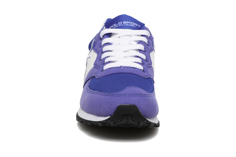 Baskets Polo Ralph Lauren Slaton Pony Bleu vue portées chaussures