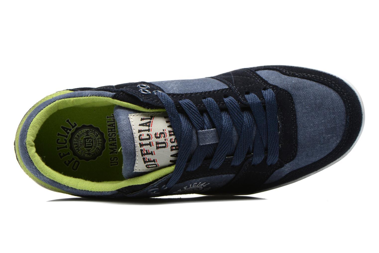 Baskets US Marshall Dasty Bleu vue gauche