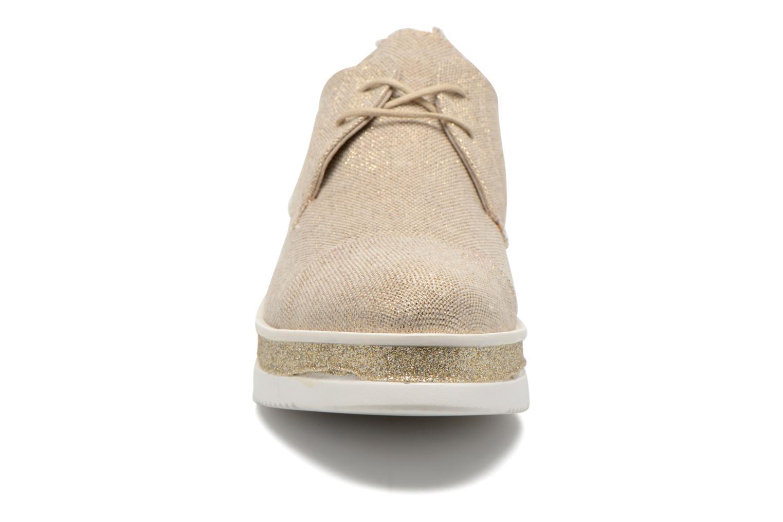 Zapatos con cordones Sweet Lemon L.12 Bahira Oro y bronce vista del modelo