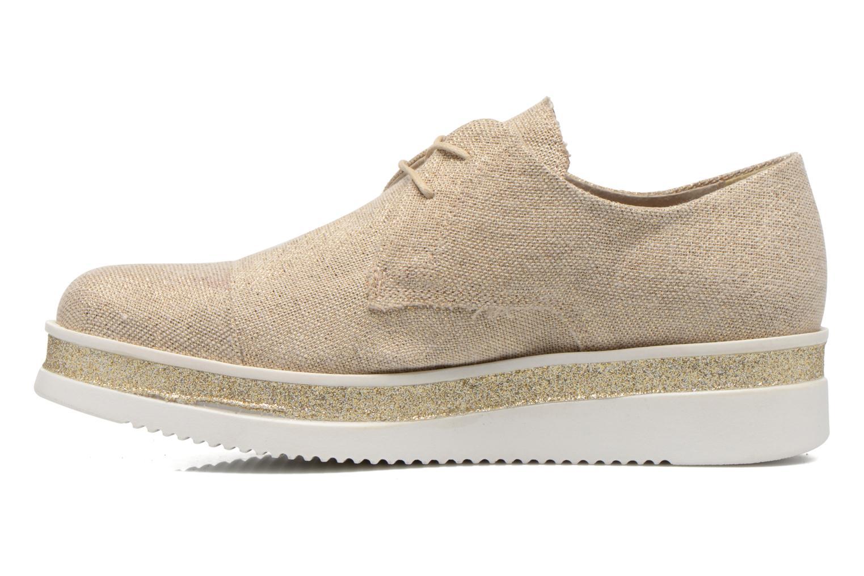 Zapatos con cordones Sweet Lemon L.12 Bahira Oro y bronce vista de frente